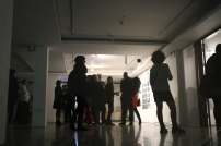 Visitors arriving at the Opening Night of Space of Refuge. (c) E. Fiddian-Qasmiyeh