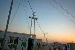 Th sun sets over a makeshift mosque in Za'atri in northern Jordan (c) UNHCR/ Jared Kohler