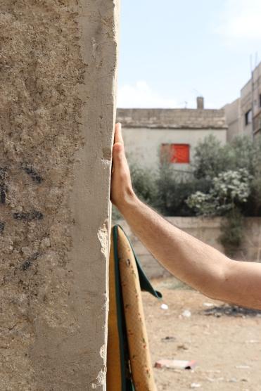 The original wall in Irbid camp, Jordan. (c) E. Fiddian-Qasmiyeh, Jordan, October 2018