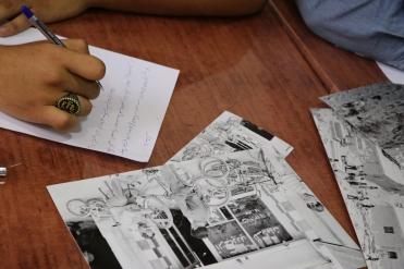 Images and words of a place: Jarash workshop, Jordan. (c) E. Fiddian-Qasmiyeh, October 2018