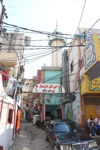 Marking the entrance to Tel el-Zaatar neighbourhood in Baddawi camp, N. Lebanon (c) E. Fiddian-Qasmiyeh, April 2017